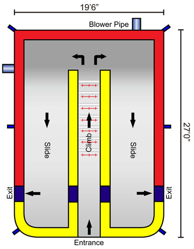 18 ft dual slide dimensions - astro jump calgary