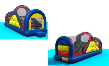 Inflatable bouncy slide both sides - Astro Jump Calgary