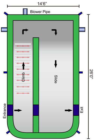 screamer slide dimensions - astro jump canada
