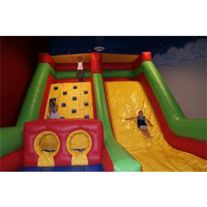 Inflatable rope wall and slide - Astro Jump Canada